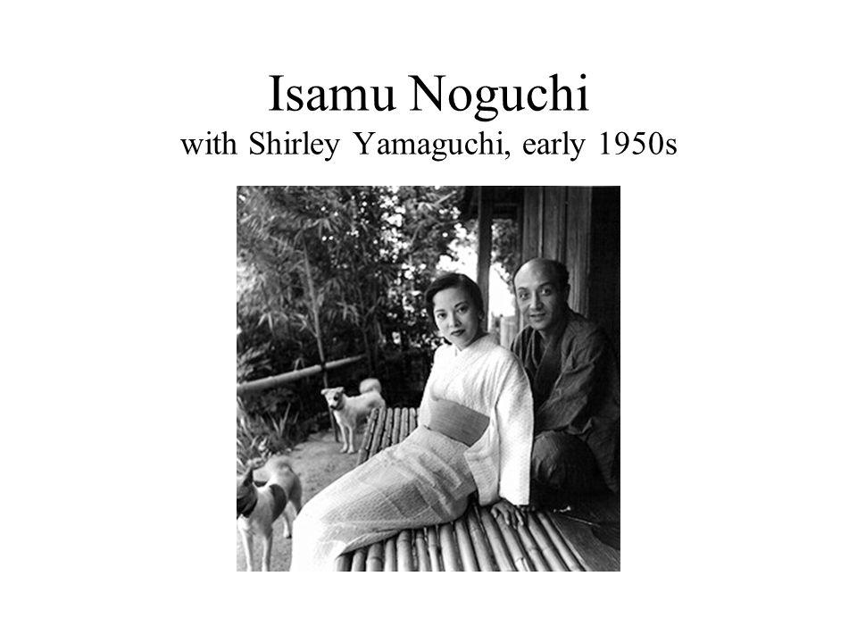 Isamu Noguchi with Shirley Yamaguchi, early 1950s