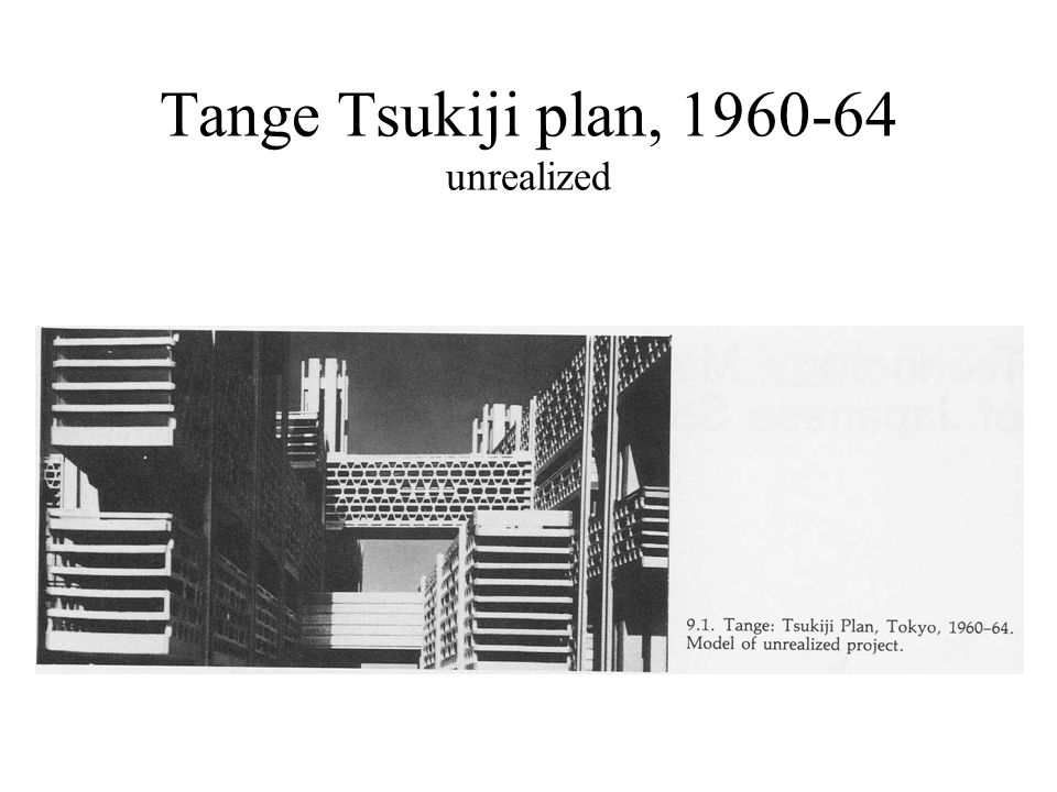 Tange Tsukiji plan, 1960-64 unrealized
