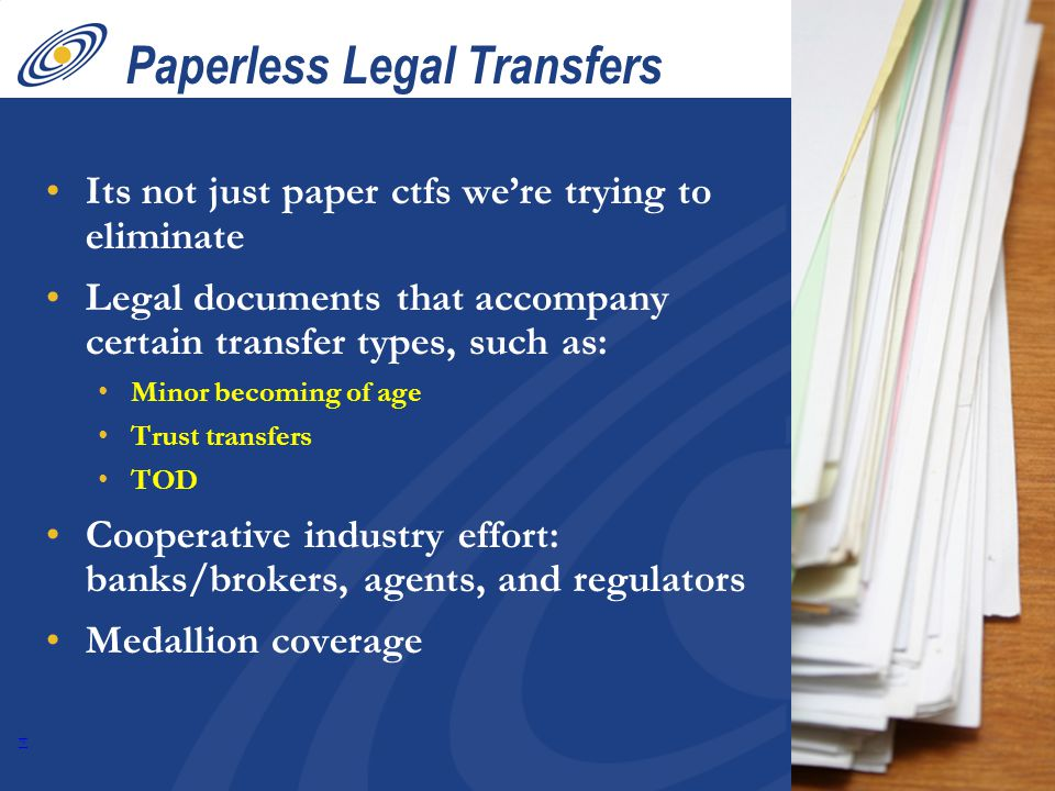 13 Paperless Legal Transfers