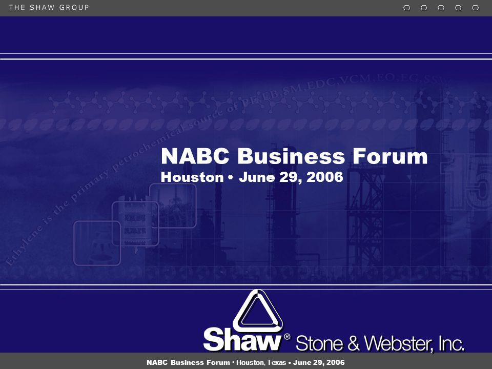 15 NABC Business Forum Houston, Texas June 29, 2006 NABC Business Forum Houston June 29, 2006