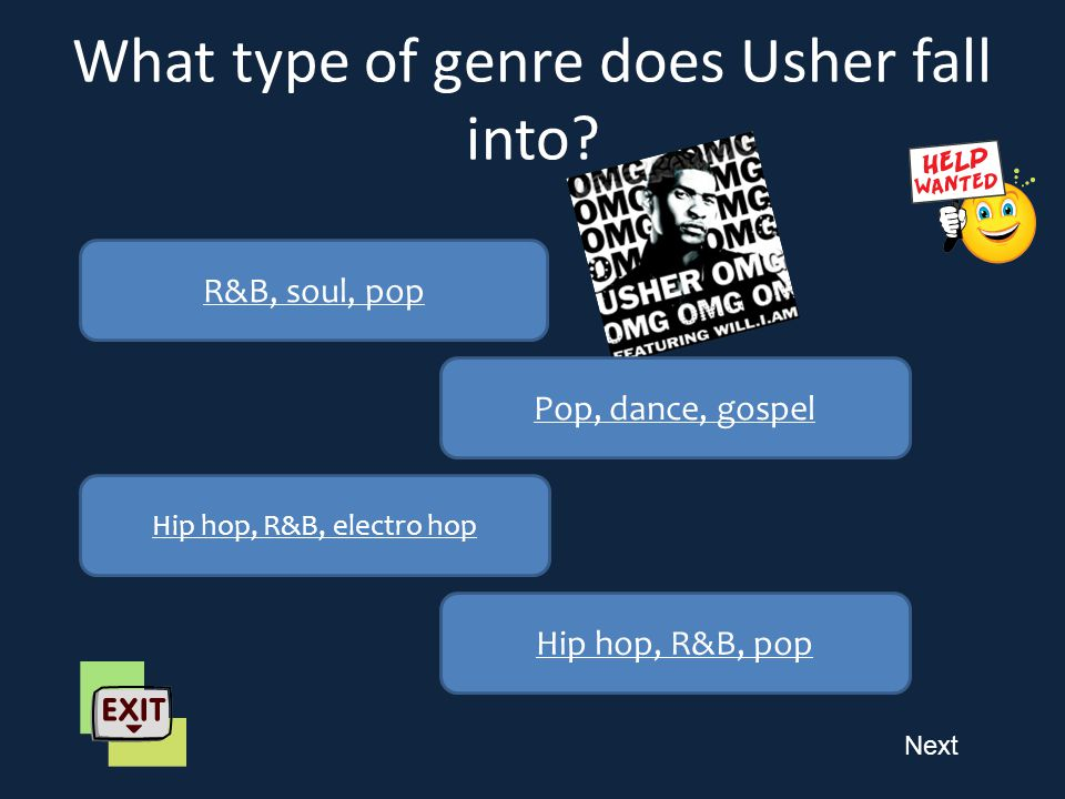 Next What is Usher's occupation? Dancer Singer – songwriter Music executive Rapper
