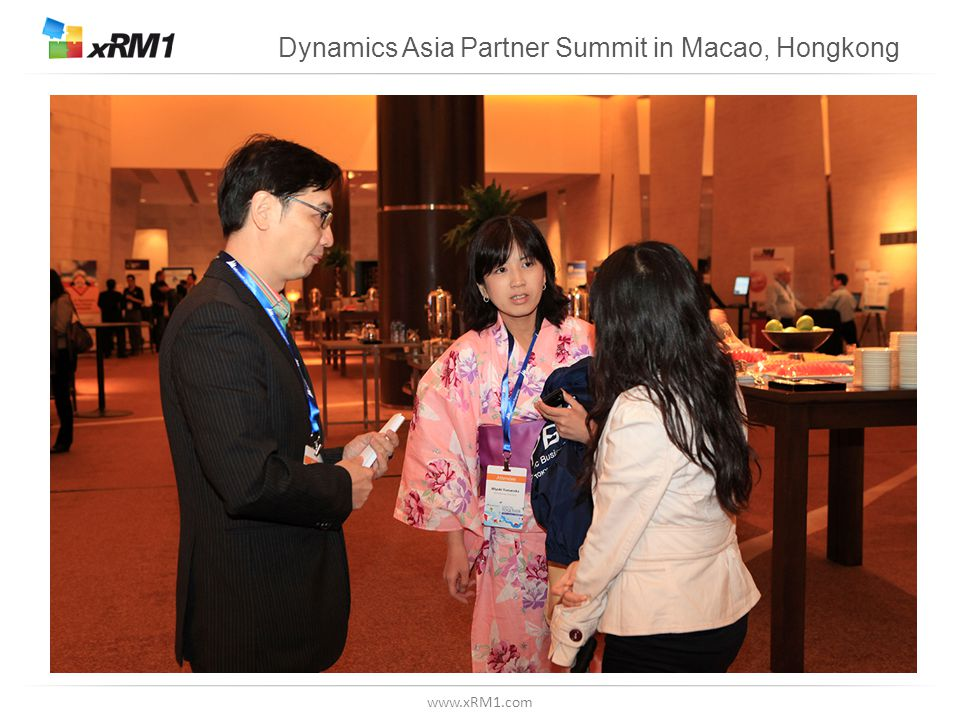 www.xRM1.com Dynamics Asia Partner Summit in Macao, Hongkong