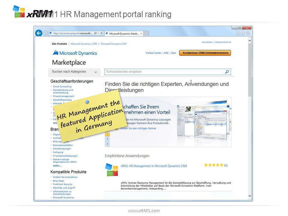www.xRM1.com xRM1 HR Management portal ranking
