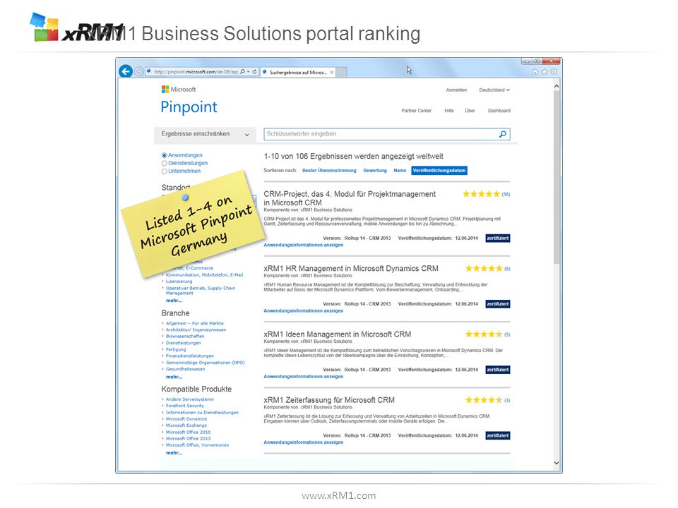 www.xRM1.com xRM1 Business Solutions portal ranking