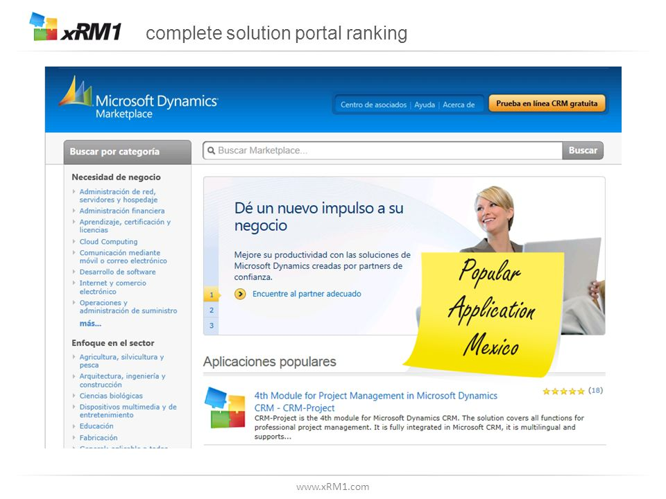 www.xRM1.com complete solution portal ranking
