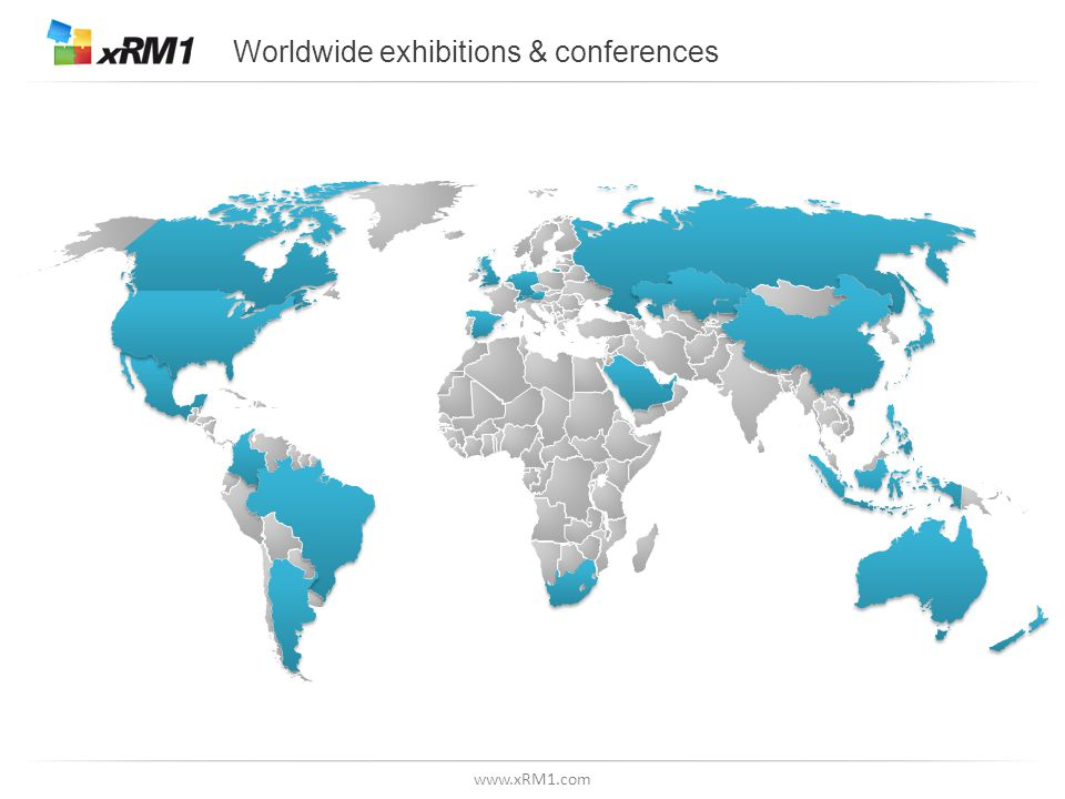 www.xRM1.com Worldwide exhibitions & conferences
