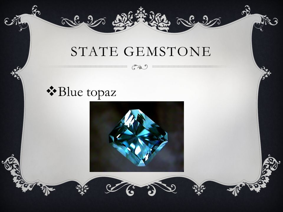 STATE GEMSTONE  Blue topaz