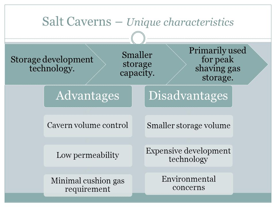 Salt Caverns – Unique characteristics Storage development technology.
