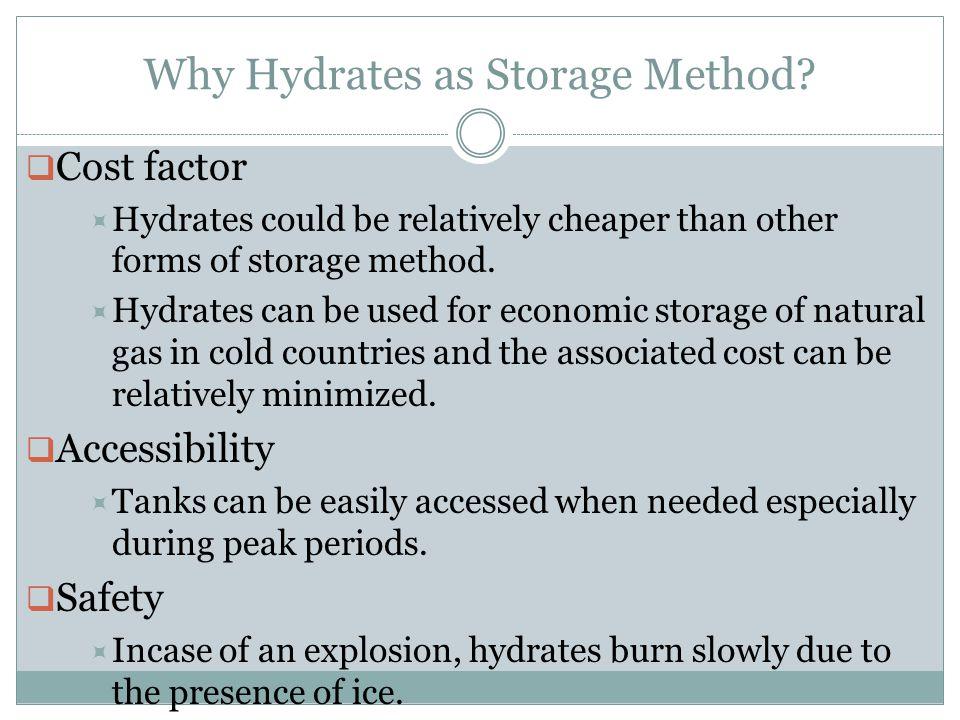 Why Hydrates as Storage Method.