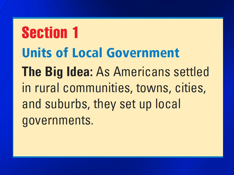 Local Governments closest to your daily life make rules that protect you and the people of your community provide services that improve your life manage your community s … road system water supply school system see their work all around you every day have grown as the country has grown as people settled in rural communities, towns, cities, and suburbs, they set up local governments