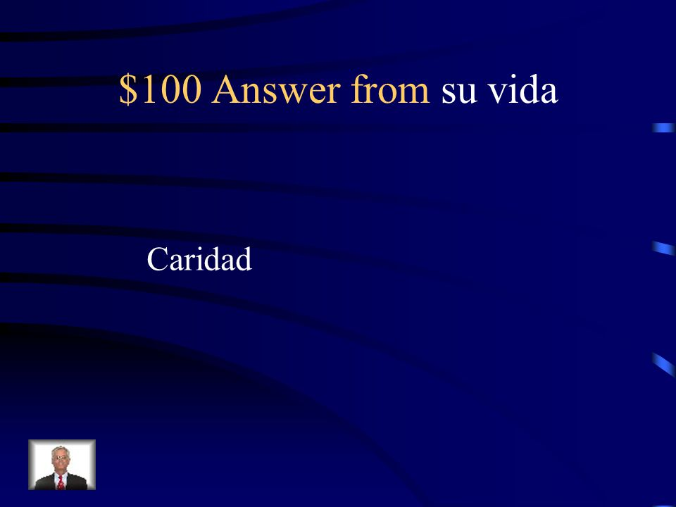 $100 Question from su vida What is Celia's middle name