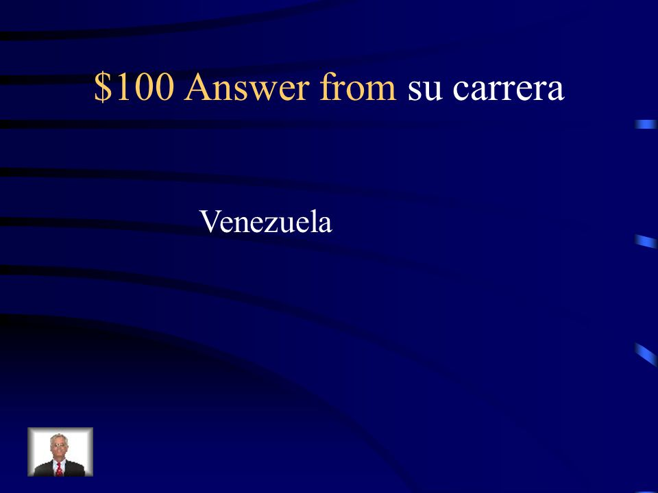 $100 Question from su carrera In what country did she record an album