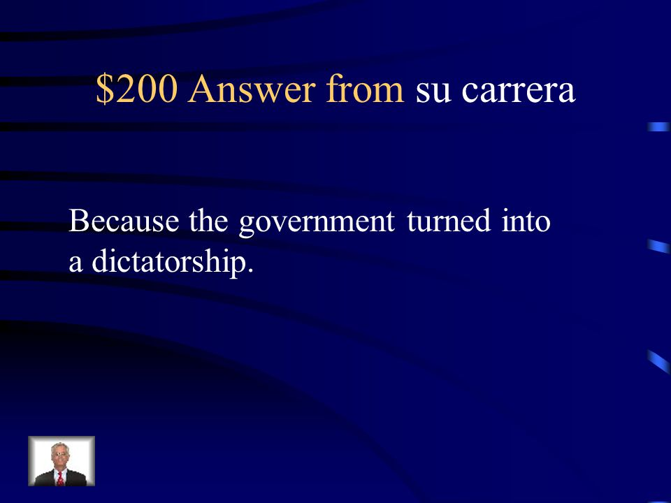 $200 Question from su carrera Why did she leave Cuba