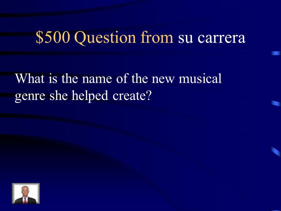 $400 Answer from su carrera Fania All Star