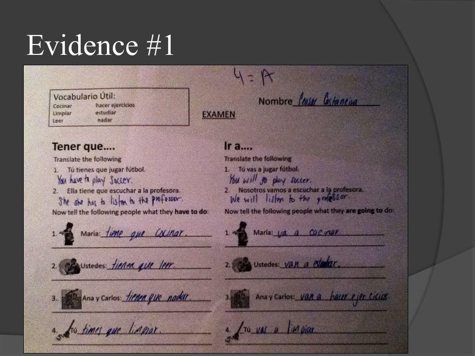 Evidence #1