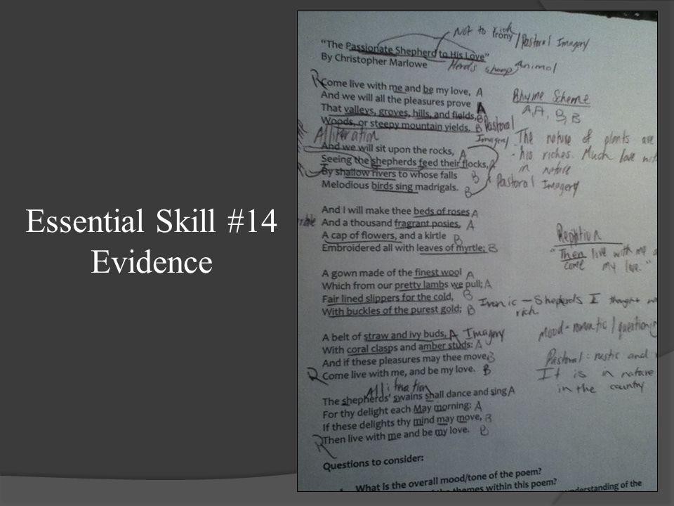 Essential Skill #14 Evidence