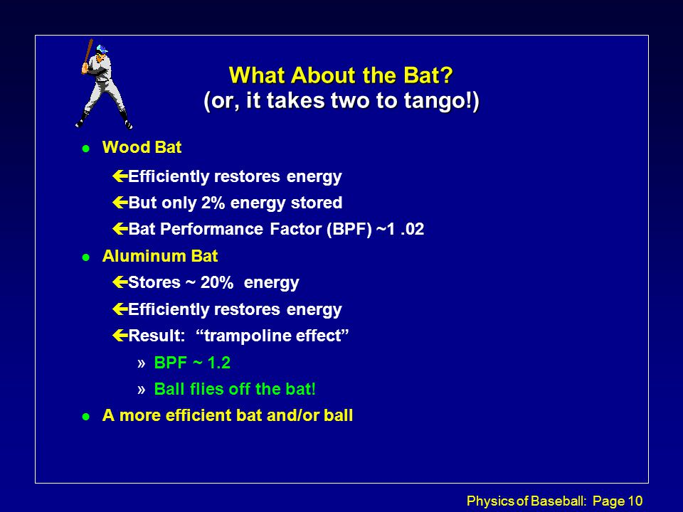 Physics of Baseball: Page 10 What About the Bat.