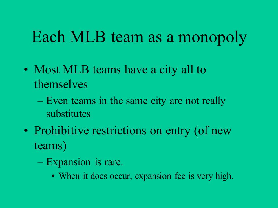Blue Ribbon Panel report (2000): competitive balance exists when – there are no chronically weak clubs because of MLB's financial structural features –a well-managed club has a reasonable hope of reaching postseason play and winning