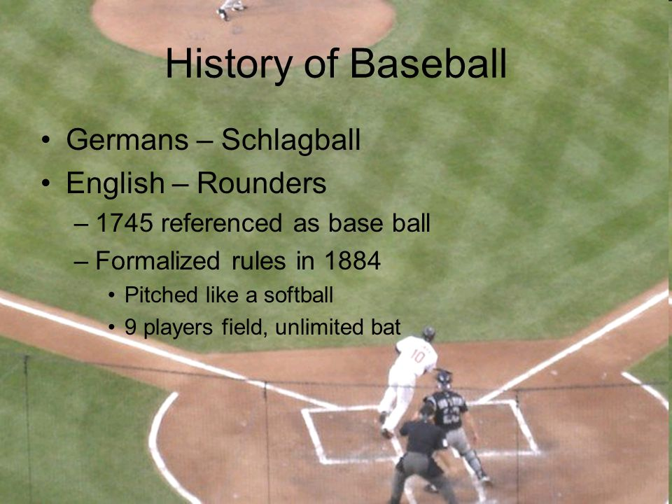 Baseball in America Abner Doubleday (1839) –Mills report in 1908 Alexander Cartwright (1845) –Formalized rules