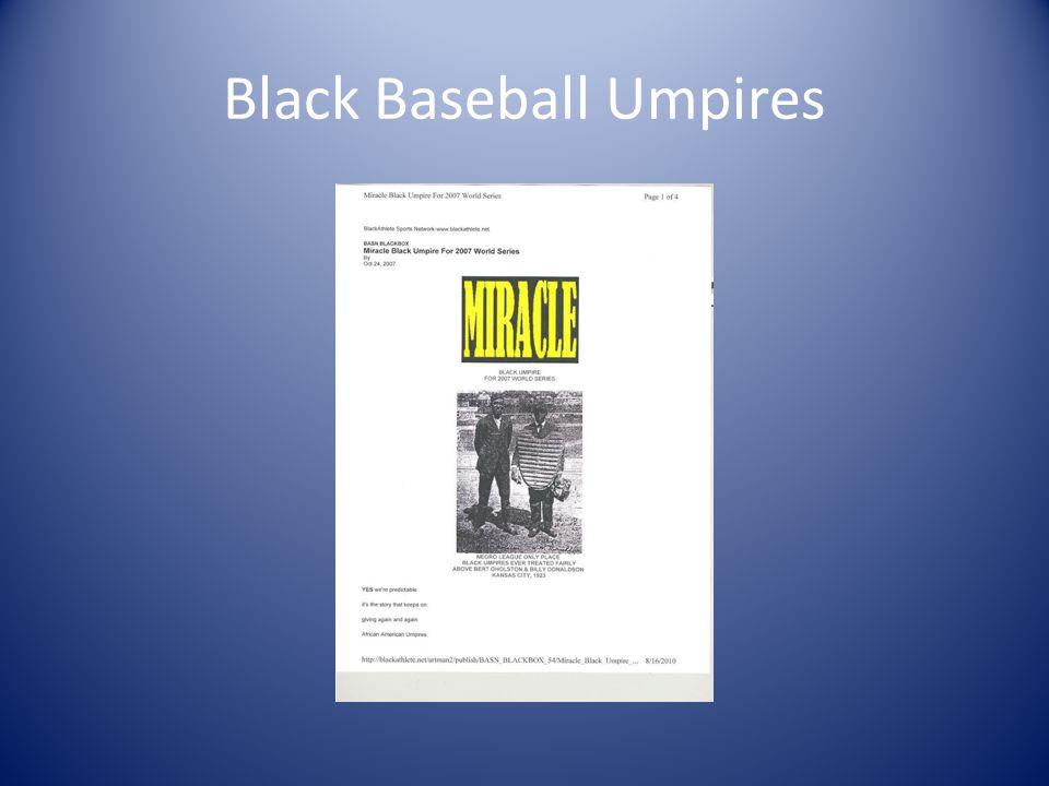 Black Baseball Umpires