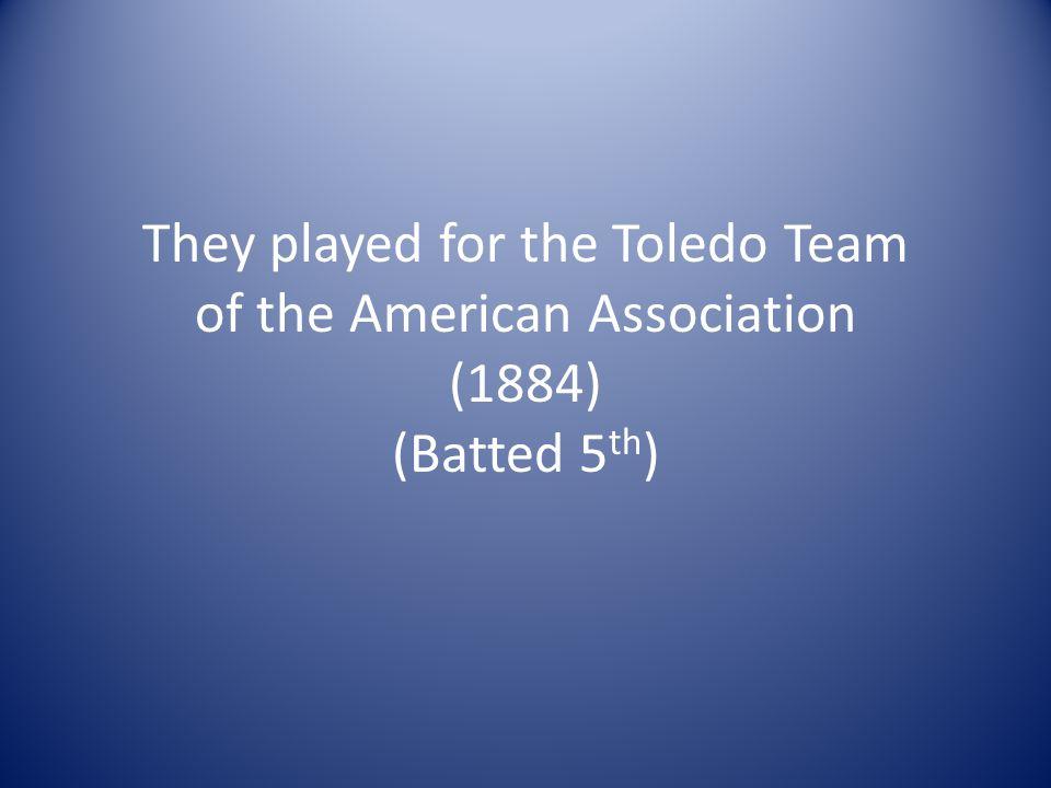 Early Baseball Players