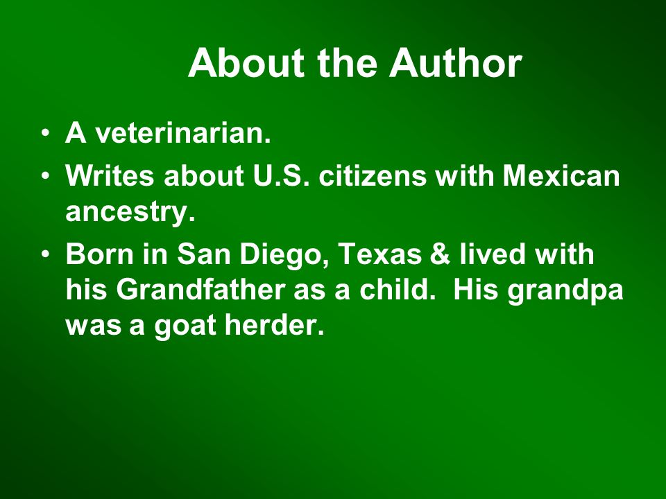 About the Author A veterinarian.Writes about U.S.