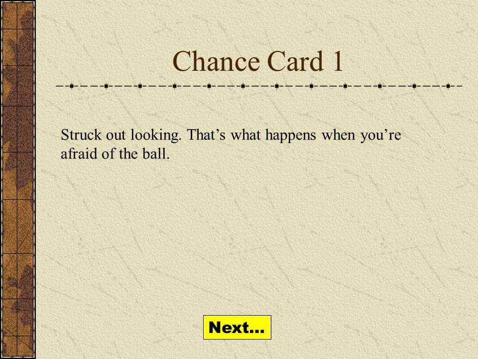 Chance Cards