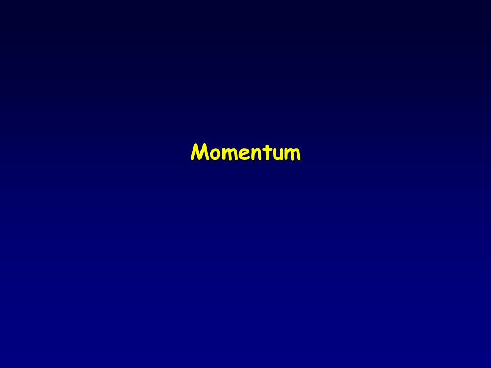 Momentum Conservation l Since the total external force in the x-direction is zero, momentum is conserved along the x-axis.