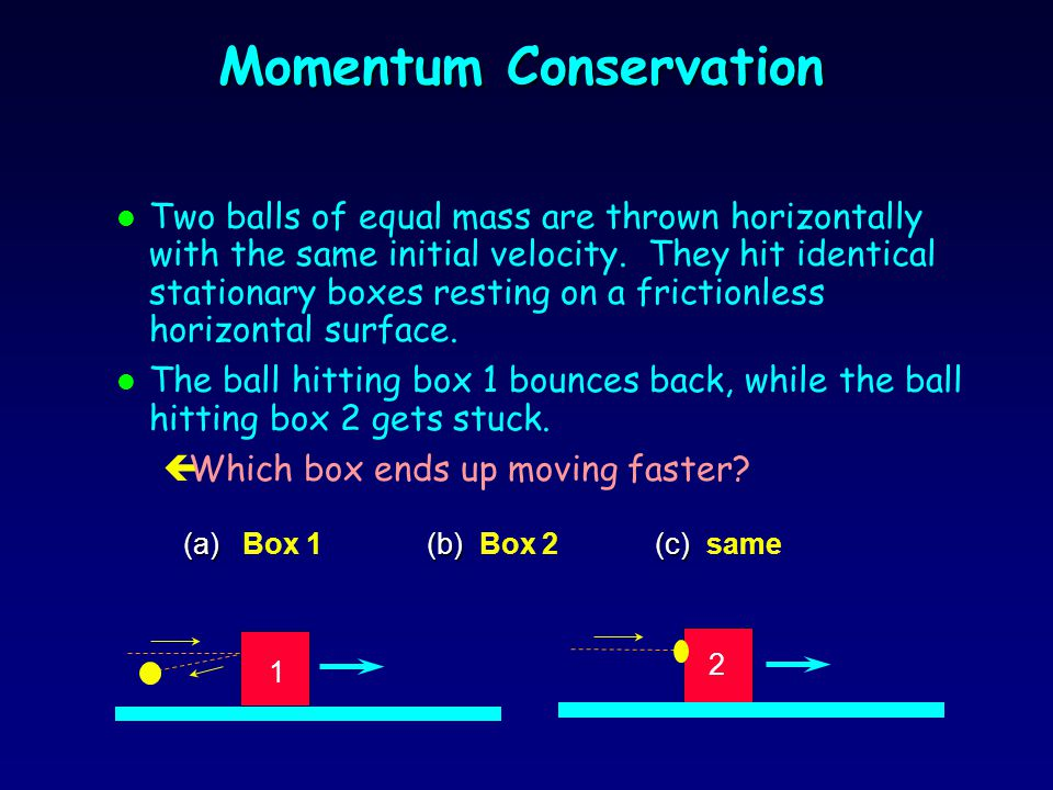 Elastic vs. Inelastic Collisions l A collision is said to be elastic when colliding objects rebound without lasting deformation or generation of heat.
