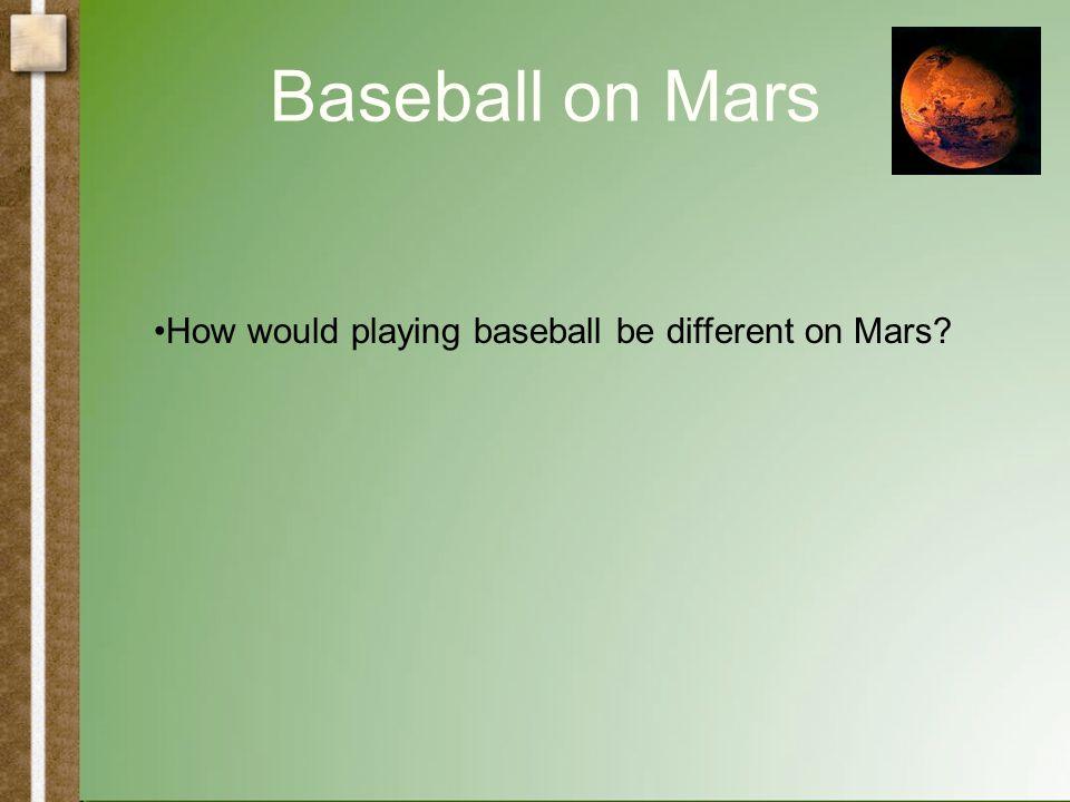 Baseball on Mars Atwood's Machine!
