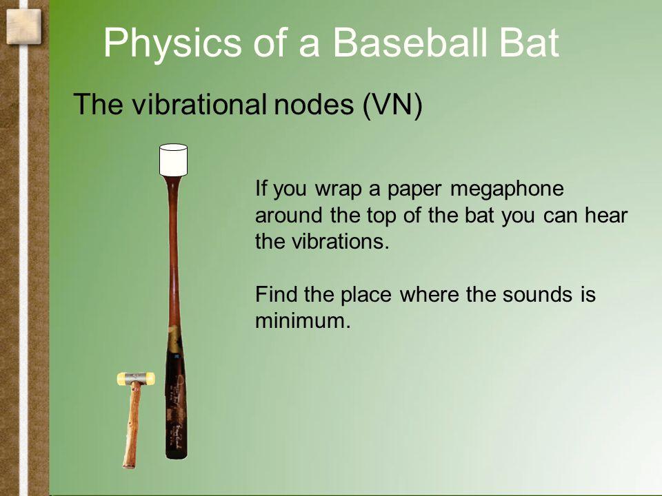 Physics of a Baseball Bat The vibrational nodes (VN)