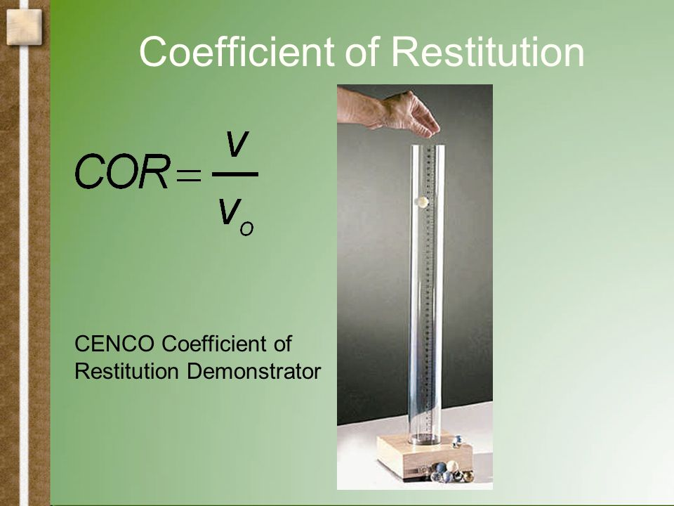 Coefficient of Restitution h0h0 h