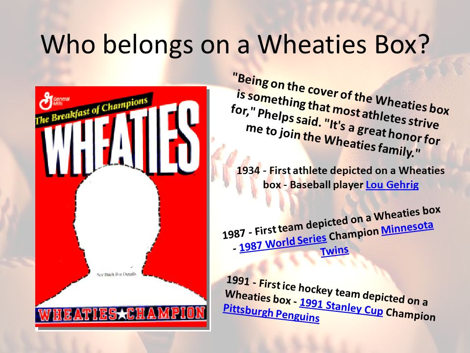Who belongs on a Wheaties Box?