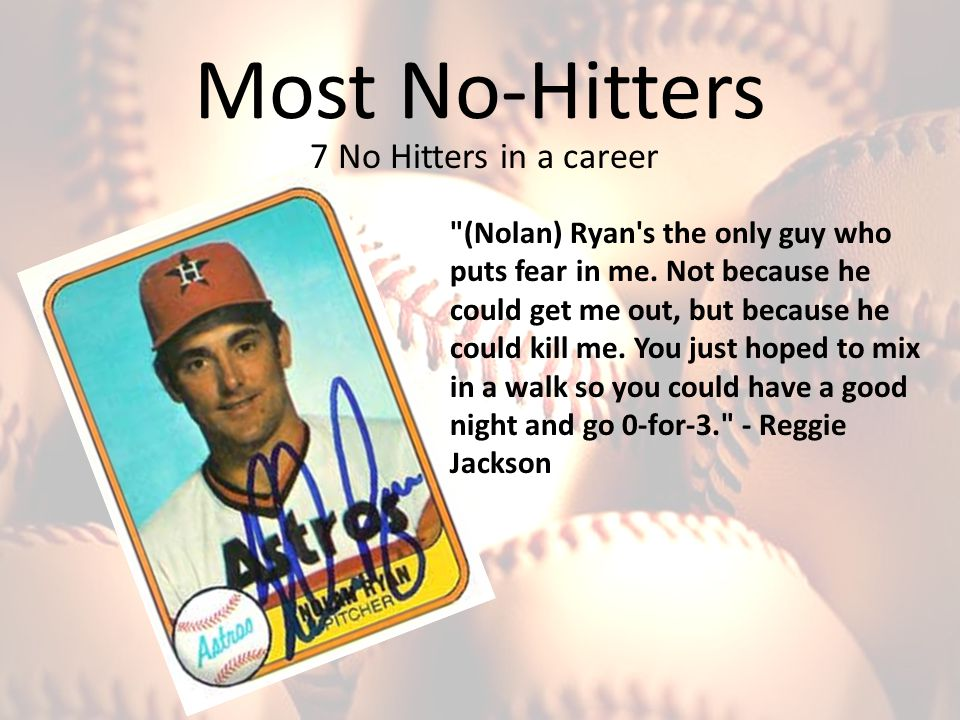 Most No-Hitters