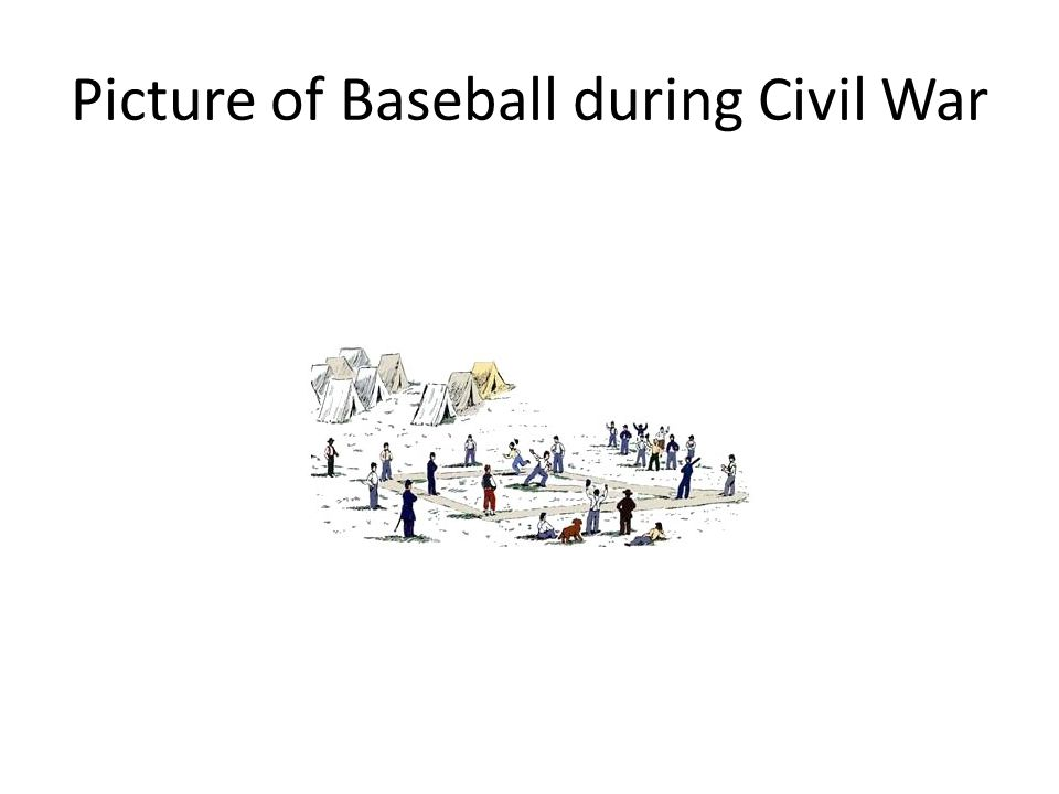 Picture of Baseball during Civil War