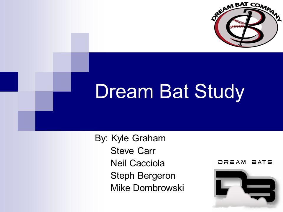 Dream Bat Study By: Kyle Graham Steve Carr Neil Cacciola Steph Bergeron Mike Dombrowski
