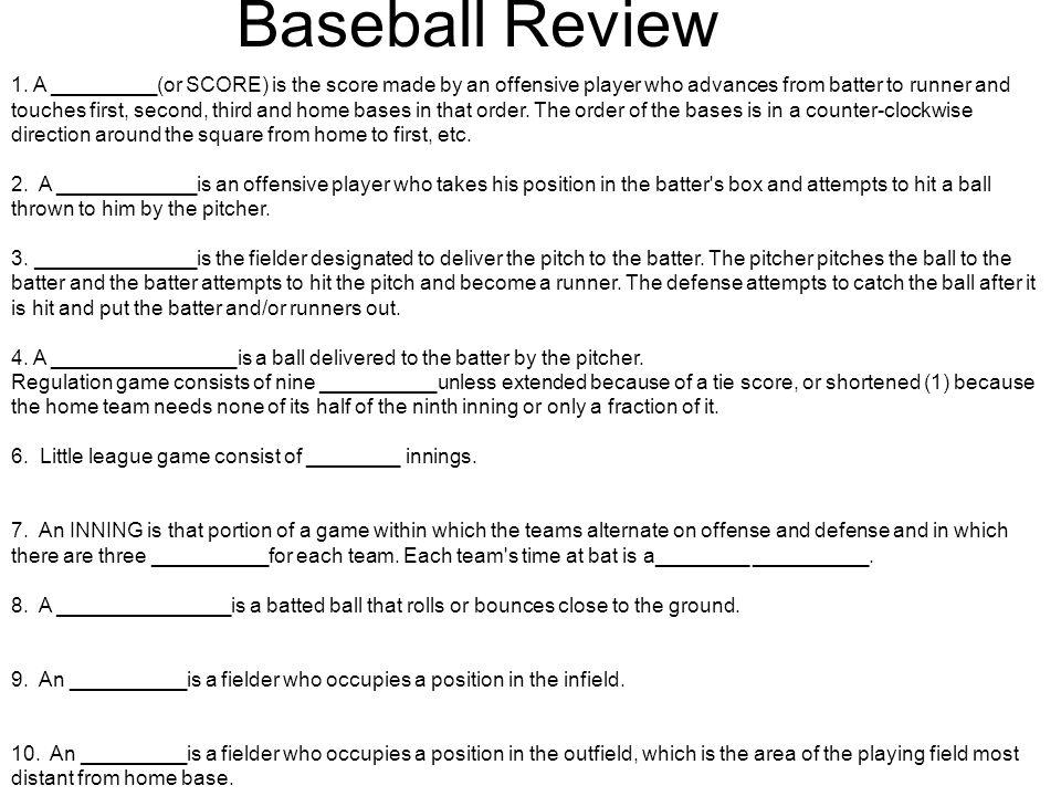 Baseball Review 1.