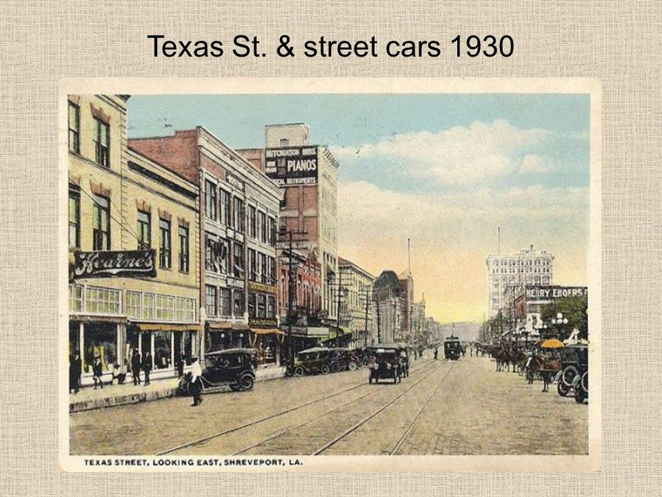 Texas St. & street cars 1930