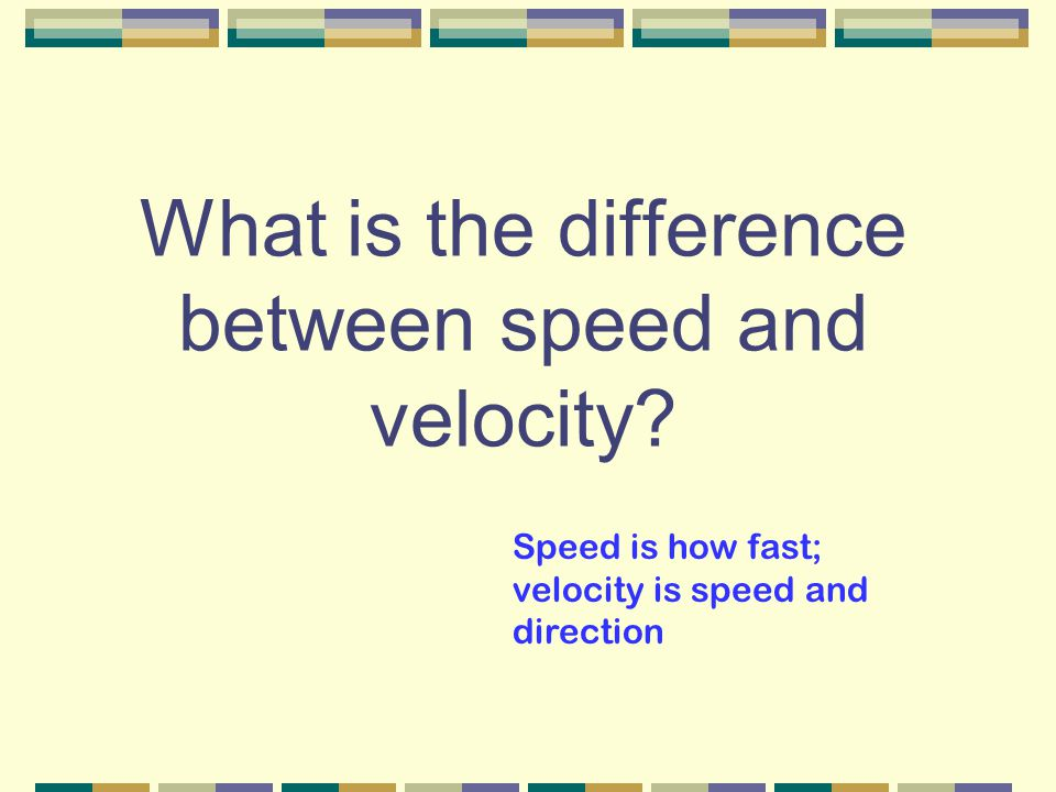 Example of an accelerating object that has constant speed Object moving in a circular path