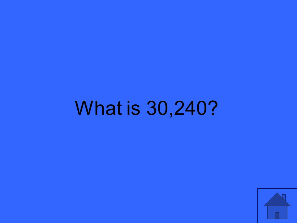What is 30,240