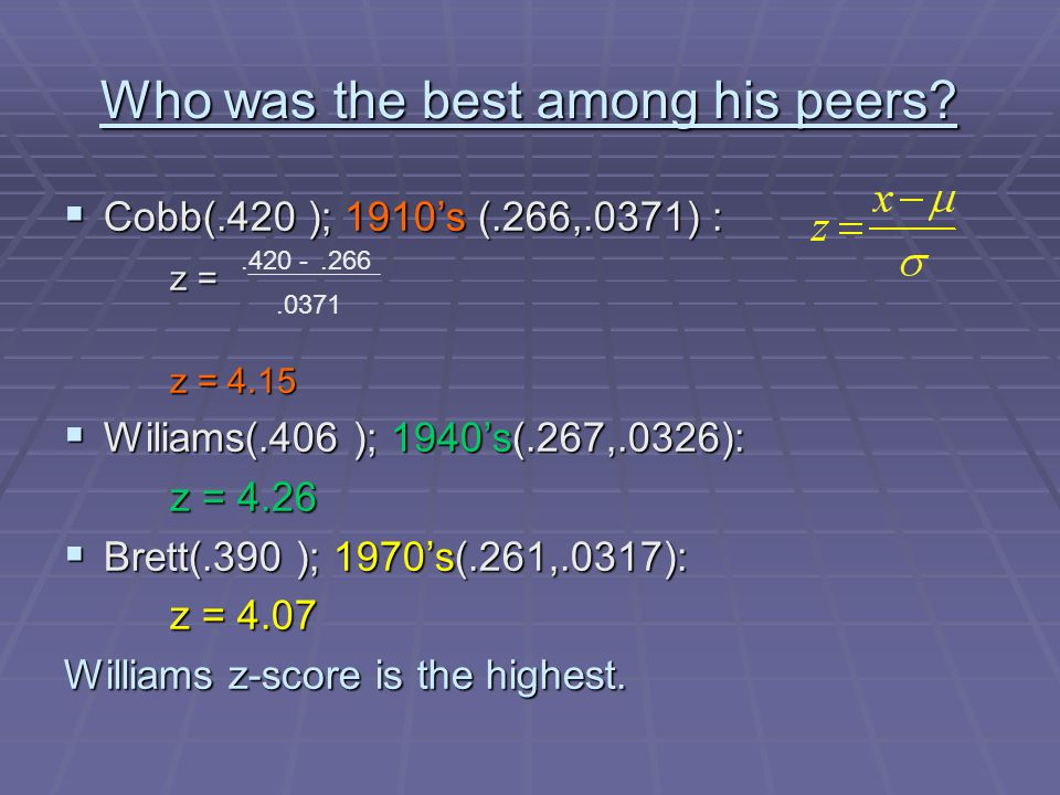 Who was the best among his peers.