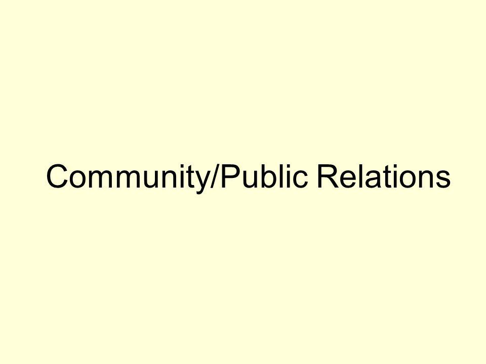 Community/Public Relations
