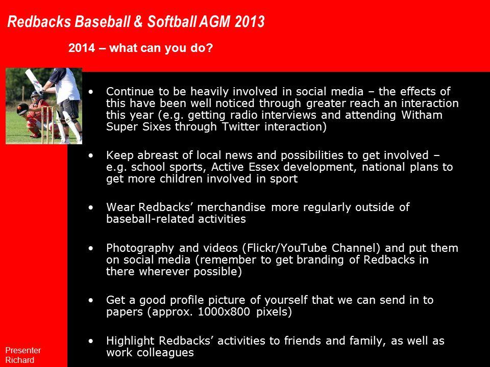 Redbacks Baseball & Softball AGM 2013 2014 – what can you do.