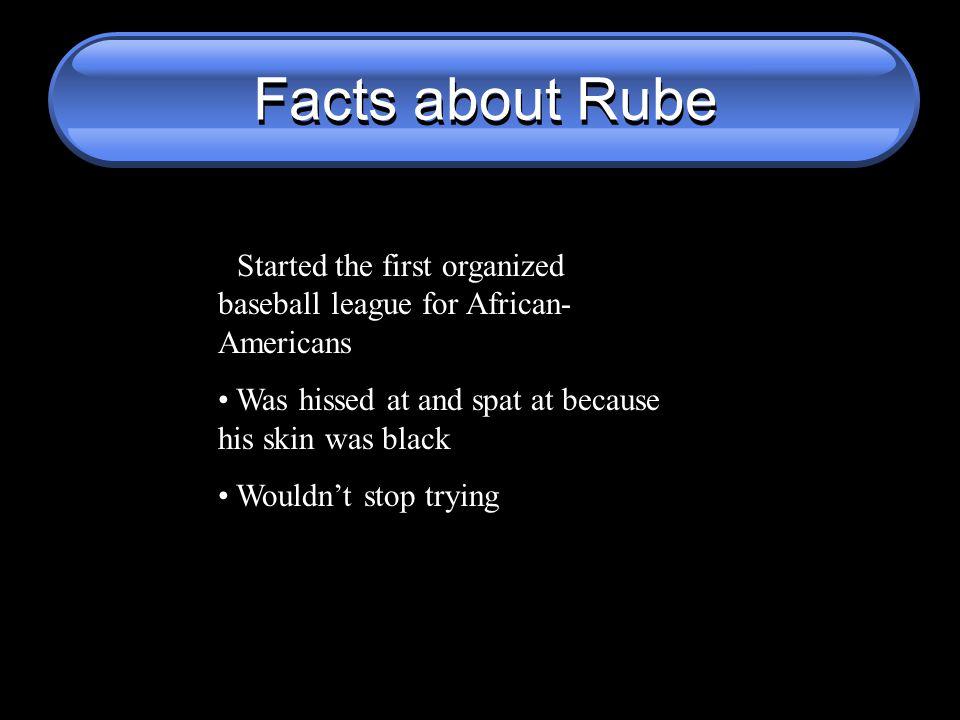 Rube Foster VS Bud Selig