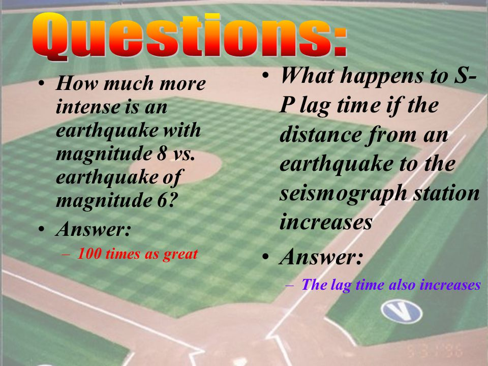 22 What three types of waves are released by an earthquake.