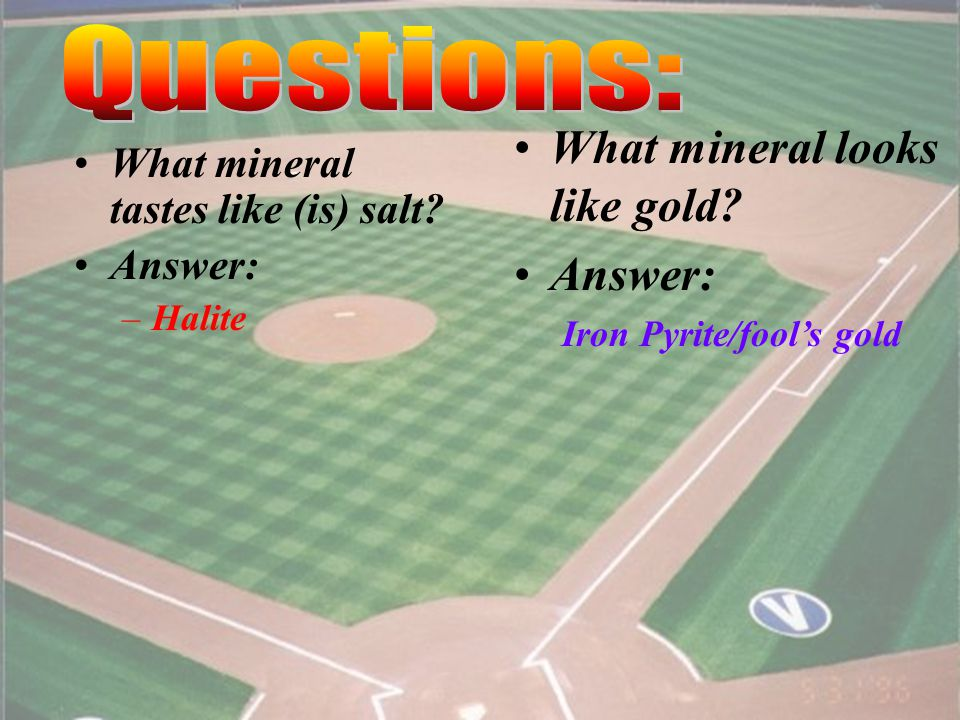 3 What mineral reacts with acid. Answer: –Calcite What mineral is the only one that is magnetic.