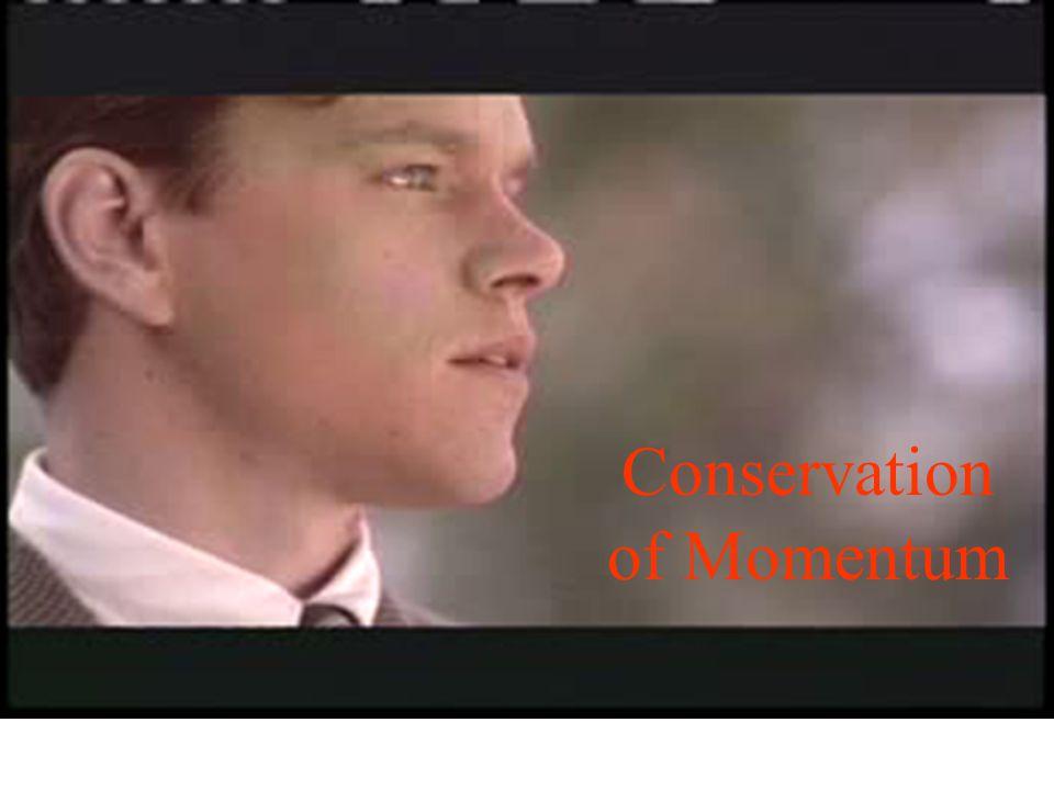 Conservation of Momentum If m 1 = m 2, then v 1 = v 2