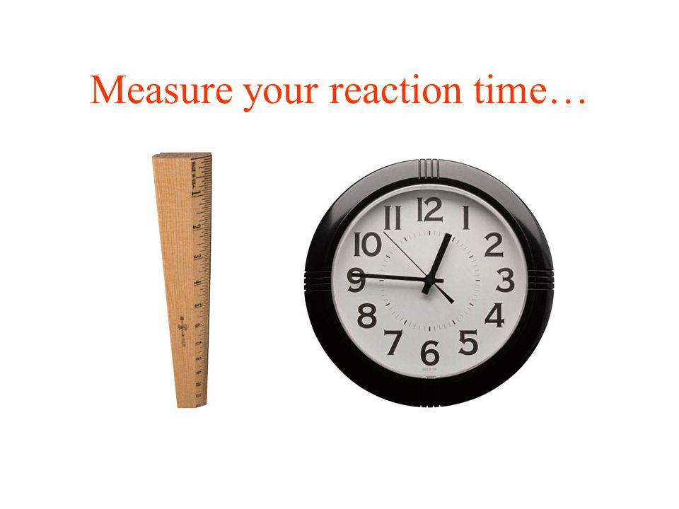 Reaction Time in Baseball Courtesy of R. Adair through A. Nathan.