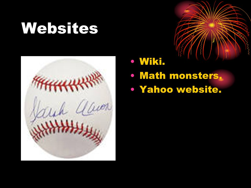 Websites Wiki. Math monsters. Yahoo website.