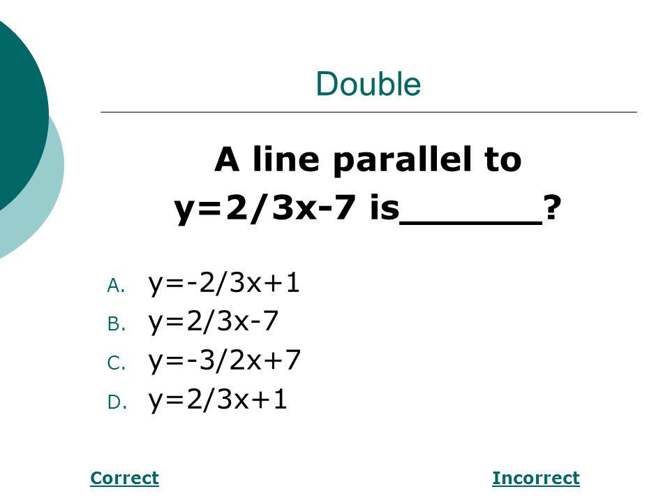 Double Find m<1 in the figure below. PQ ll RS P Q 61° R 1S CorrectIncorrect